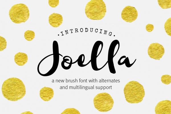 Joella Brush Script Font