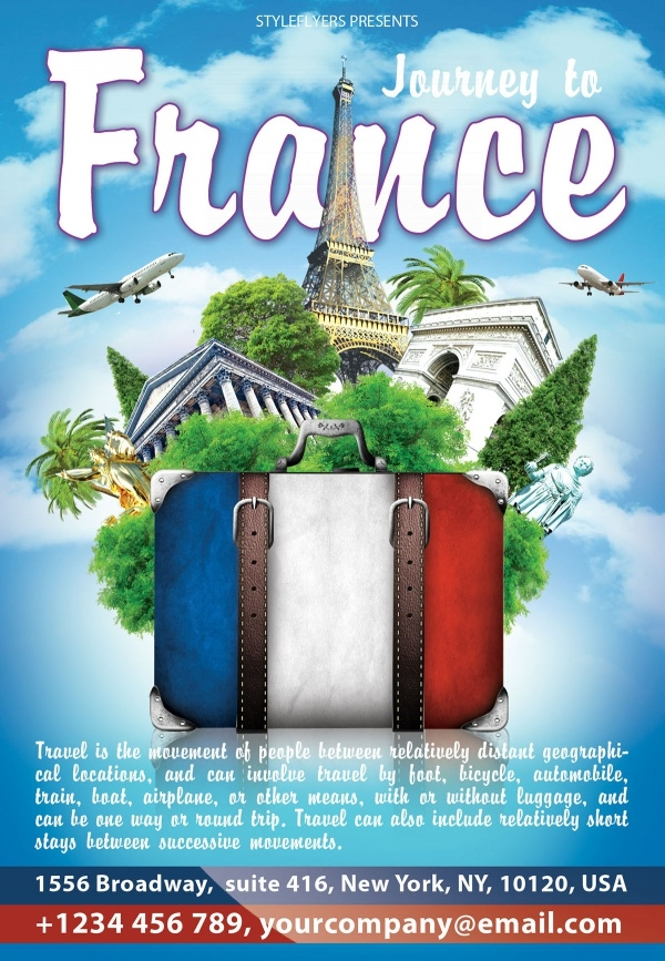 Journey to France Travel Flyer