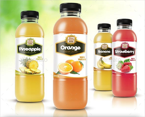 Juice Bottle Labels Design