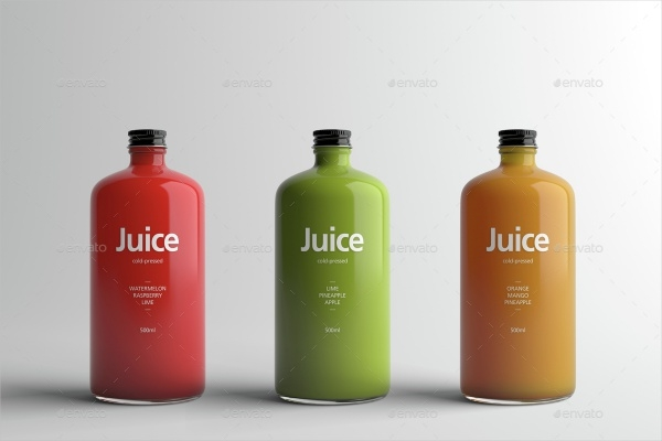 Juice Bottle Packaging Design