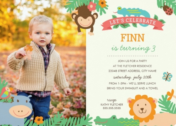 Jungle Birthday Party Invitation
