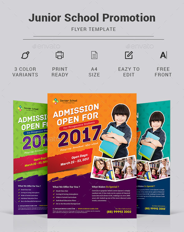 School Flyer Templates  Psd Vector Eps Jpg Download