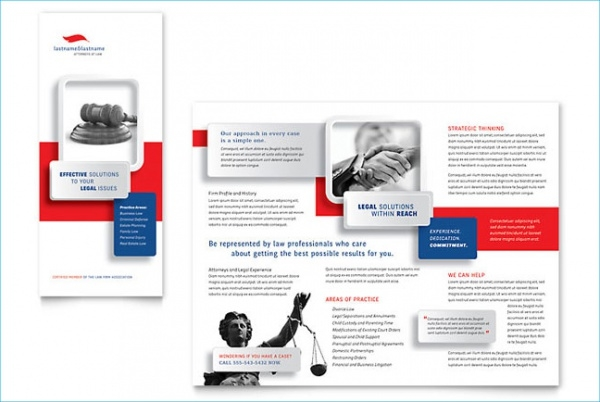 Justice Legal Services Brochure Template