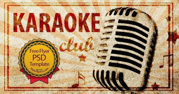 Karaoke Club Flyer Template