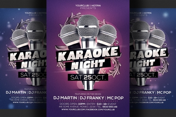 Karaoke Contest Flyer Design