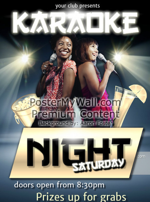 Karaoke DJ Night Flyer Design