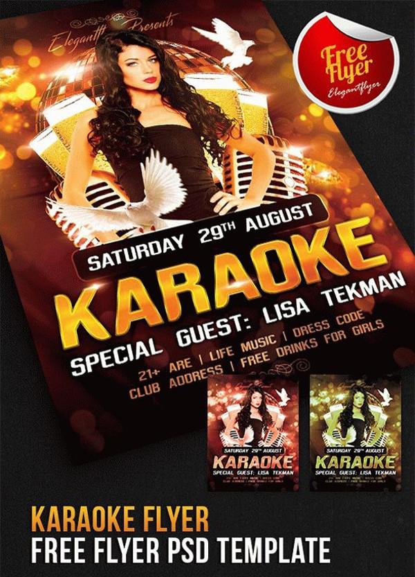 Karaoke Flyer – Free Flyer PSD Template
