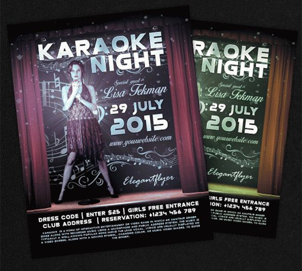 Karaoke Flyer PSD Design