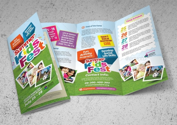 Kid's Bi Fold Camp Brochure