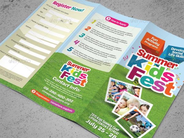Kid's Summer Camp Brochure Design