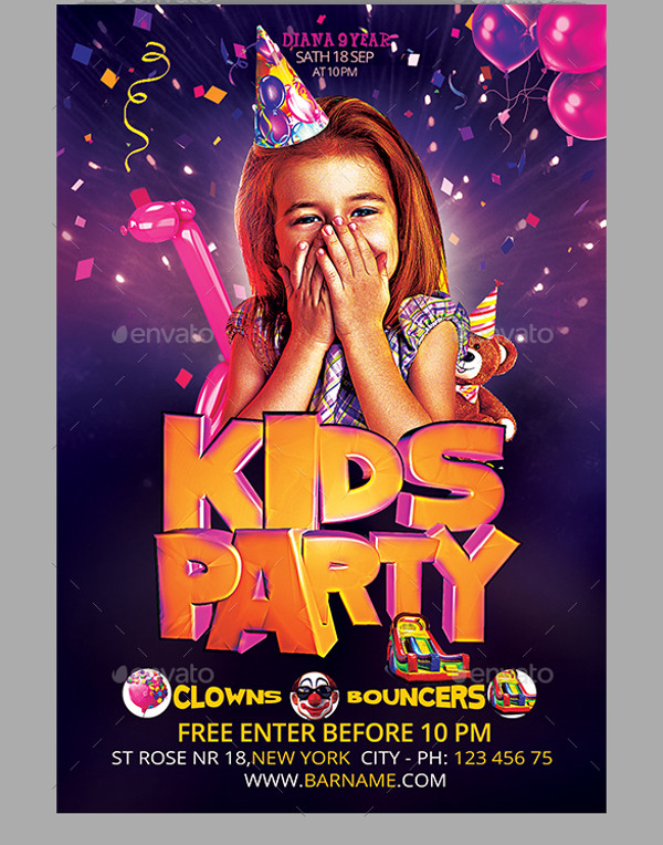 24 birthday flyers psd vector eps jpg download free creatives here is a pack of 2 flyer templates that you can use perfectly as an invite for your kids birthday party in the neighborhood maxwellsz