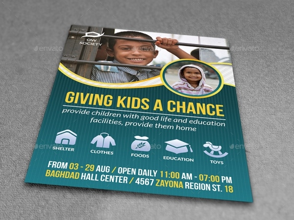 Kid's Charity Flyer Template