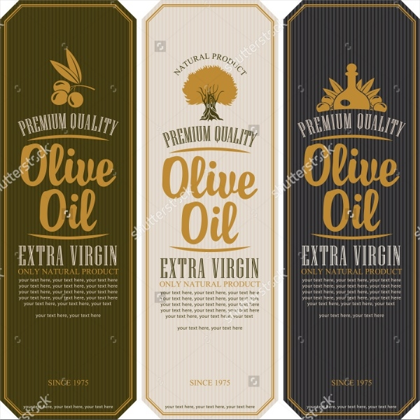 Label Designs for Olive Oil Bottle