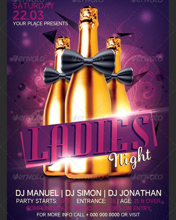 Ladies Night Bachelorette Party Invitation