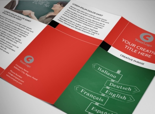 Language Learning Brochure Template
