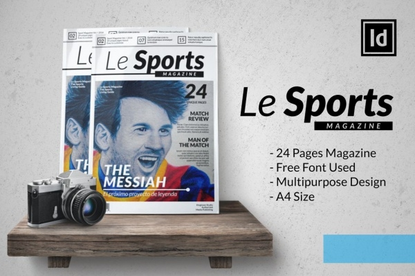 Le Sports Magazine Design Template