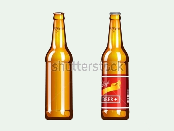 Light Beer Bottle Vector