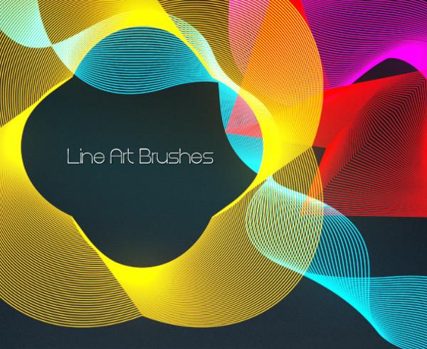 Lined Art Brushes For Desktop