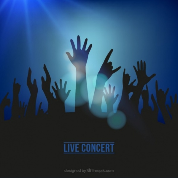 Live Concert Background Vector
