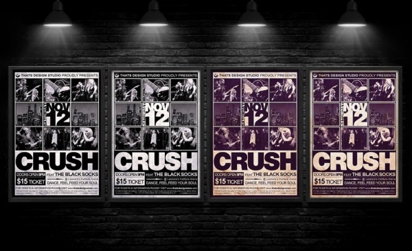 live concert punk flyer template