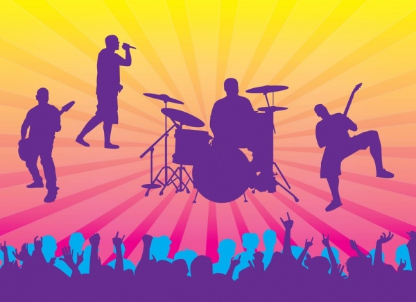 Live Concert Vector Graphics