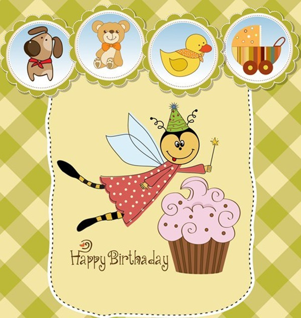 Lovely Birthday Vector Design