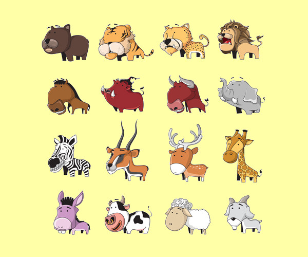 Lovely Cartoon Animal Vectors