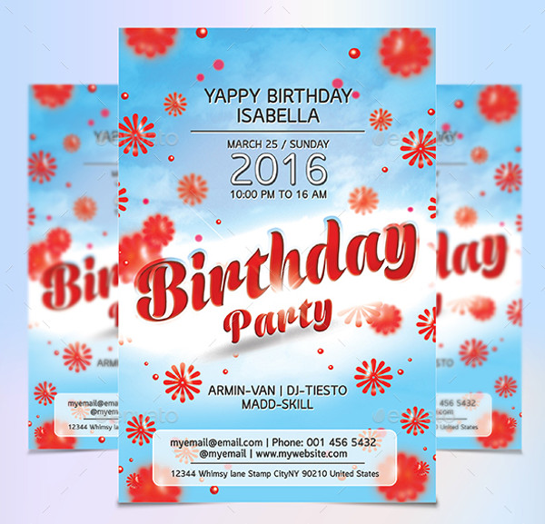 Luxury Birthday Invitation Flyer