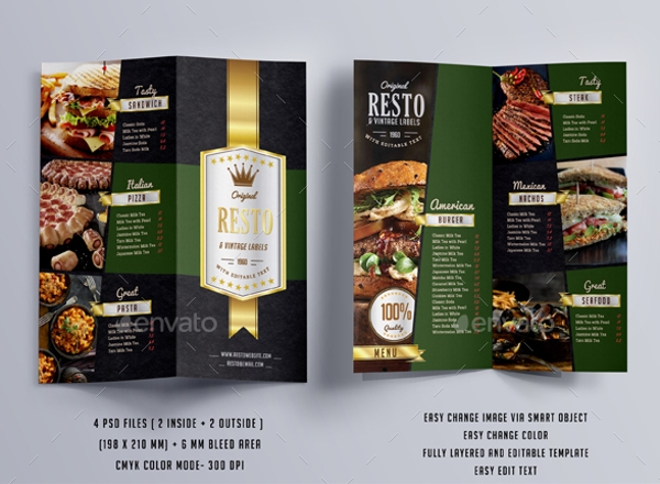 Luxury Menu Flyer Template
