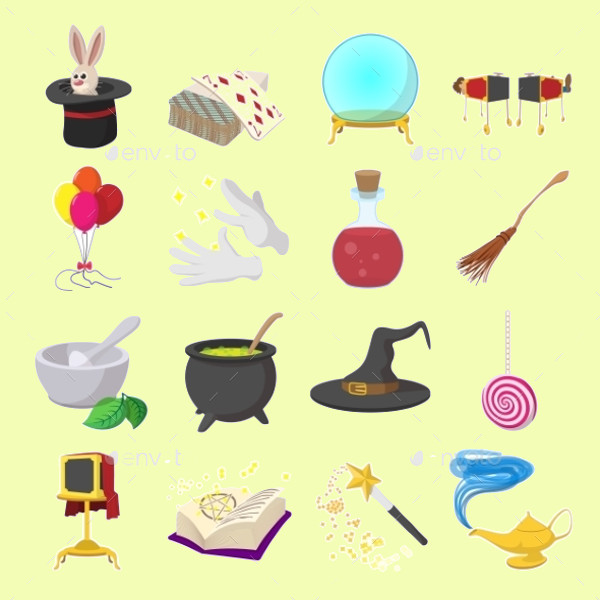 Magic Cartoon Icons for Mobile Devices