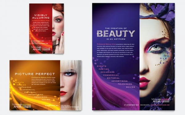 makeup artist flyer ad template