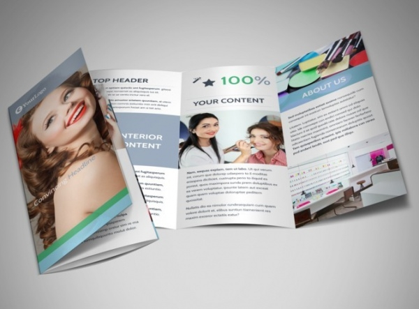 Makeup & Cosmetics Tri-Fold Brochure