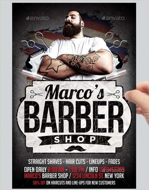 27 Barbershop Flyer Psd Vector Eps Jpg Download Freecreatives