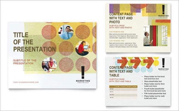 Marketing Consultant Presentation Template