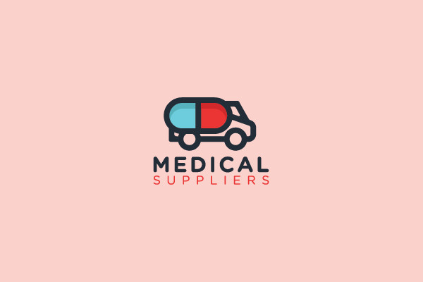 Medical Suppliers Truck Logo