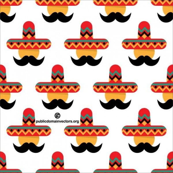Mexican Character Wearing Pattern