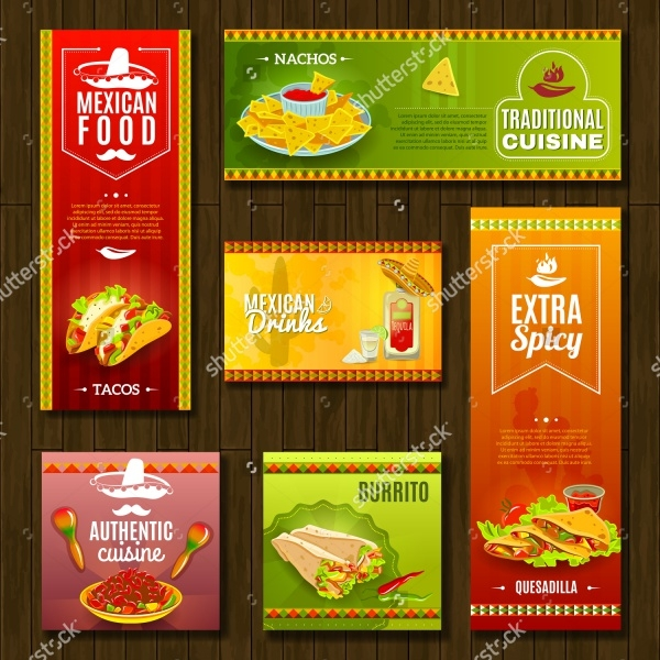 Mexican Traditional Food Cafe Restaurant Banner