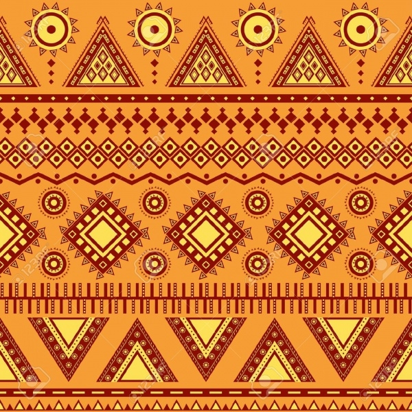 Mexican Zigzag Geometric Patterns
