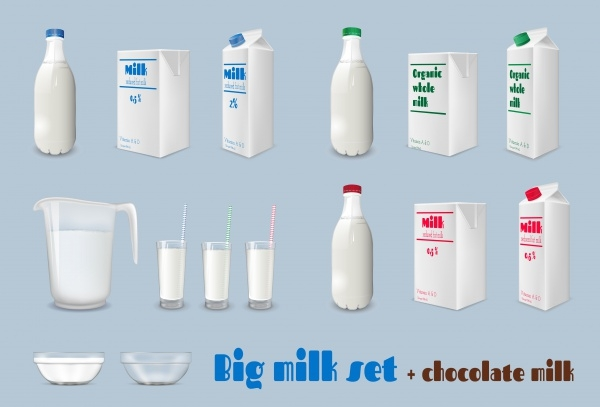 Milk Bottle & Cardboard Packaging
