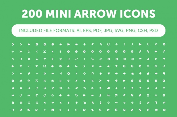 Mini Arrow Icons Bundle