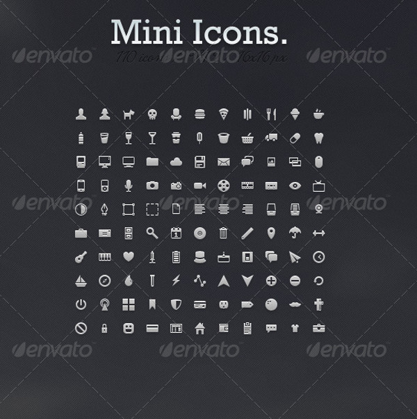 Mini Icons for Web Design
