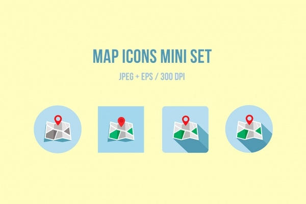 Mini Map Icons Set