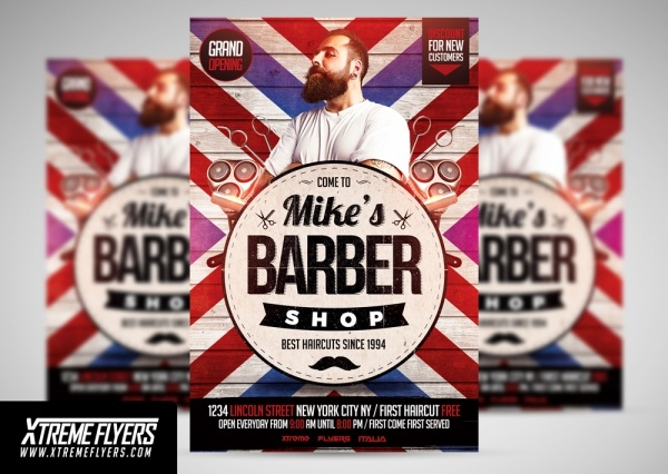 Minimal Barbershop Flyer Design