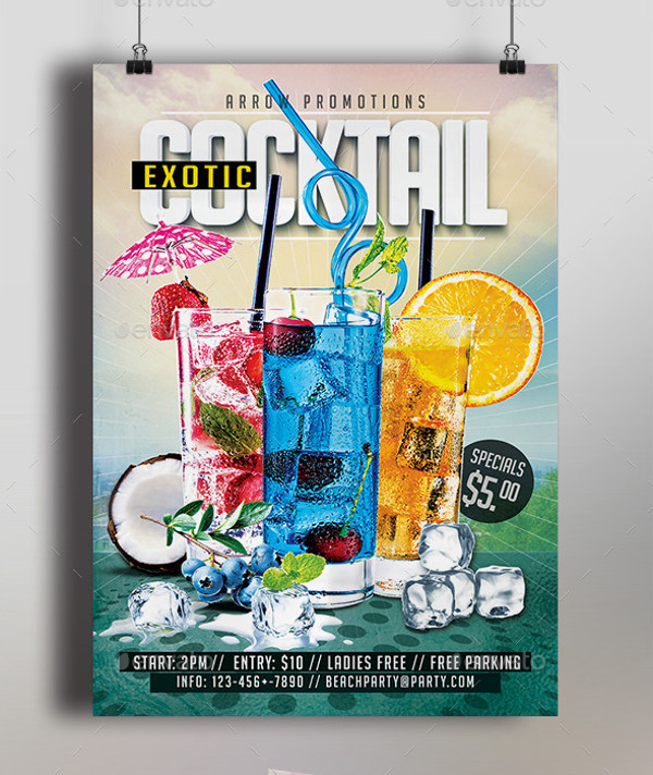 Minimal Cocktail Flyer Design