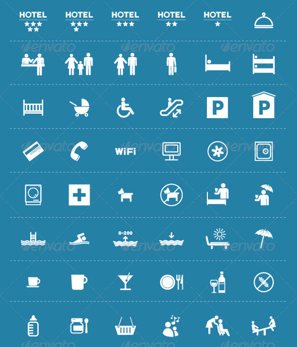 Minimal Hotel Icons Pack