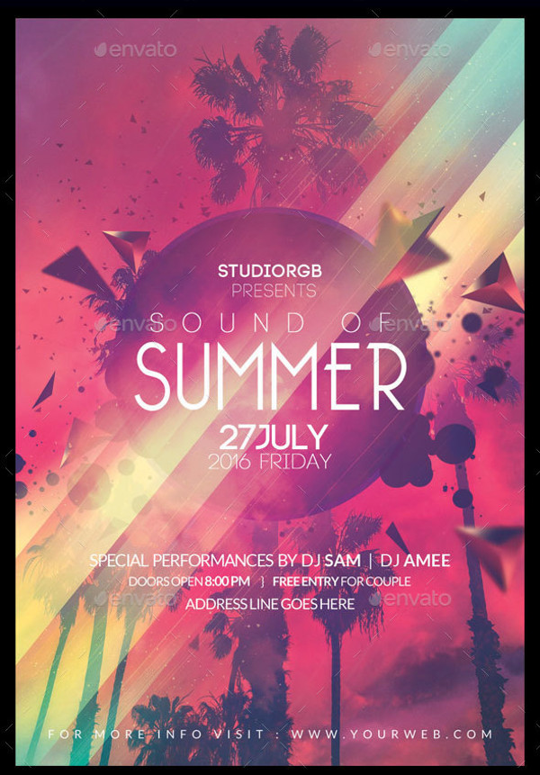 Minimal Summer Flyer Design