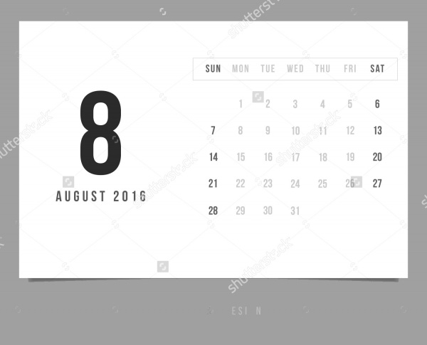 Minimalist Calendar Design : Wall calendar psd vector eps jpg download