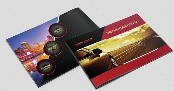 Modern A4 Design for Car Brochure