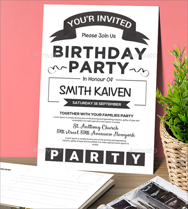 Modern Birthday Invitation