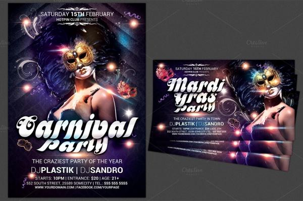 modern carnival party flyer